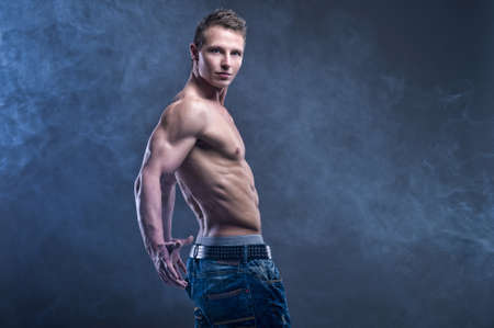Fit muscular man photo