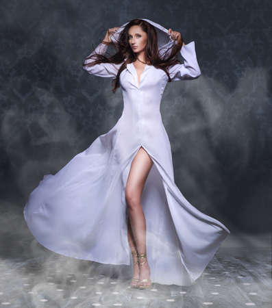 avantegarde: Portrait of a beautiful sexy young woman