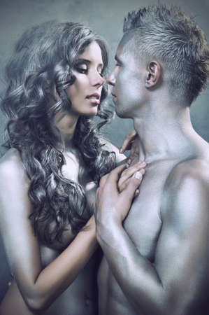 Sexy couple embracing photo