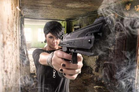 star wars: beautiful sexy girl holding gun