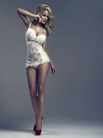 sexy legs: Beautiful happy woman