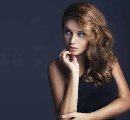 model portrait: vogue style portrait of beautiful delicate woman