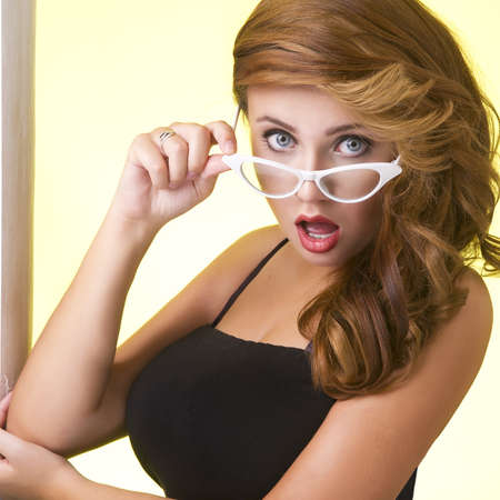 Portrait of a young woman in glasses Stock Photo - 21704906