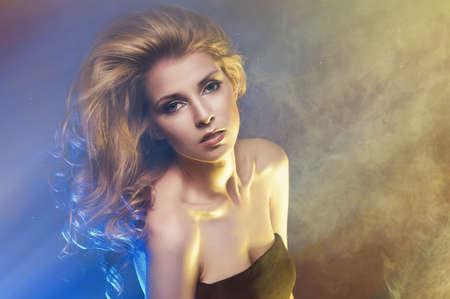 vogue style: Beauty blond woman