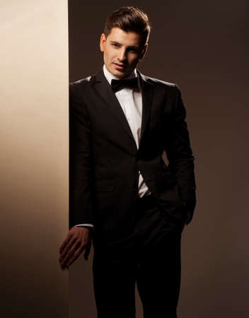 only young men: Sexy young man in suit Stock Photo