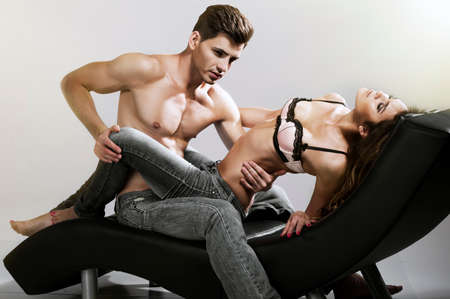 Sexy Man And Woman In Love Stock Photo