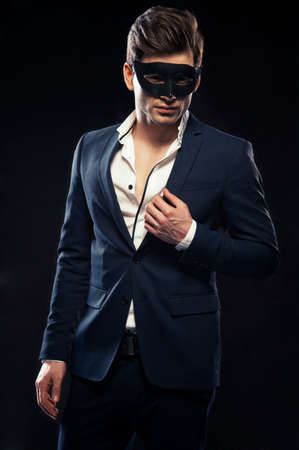 mystery man: Handsome man in mask