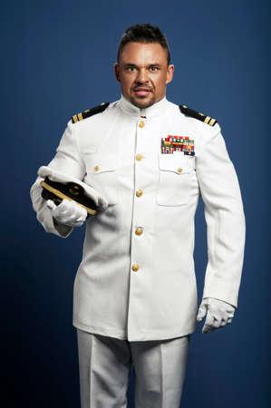 captain ship: handsome captain sea ship