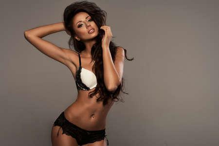 girl sexy: Belleza con la lencería Foto de archivo