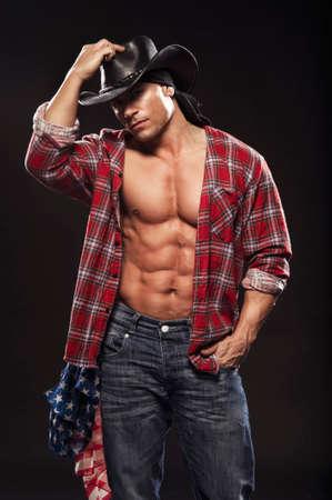 Hombres sexy como vaquero Foto de archivo - 31999026