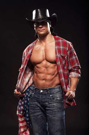 Sexy men like cowboy photo