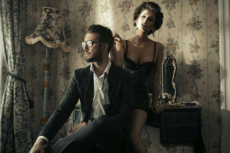 Fashion style photo of an attractive young couple Stockfoto