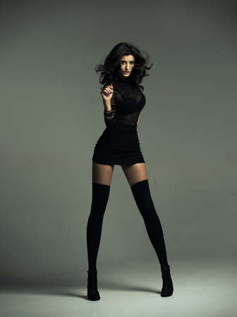 sensuel: Femme sensuelle porter costume � la mode