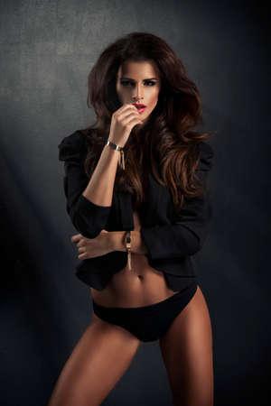 sensual woman: Photo of sensual elegant beautiful woman looking at camera