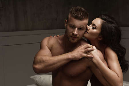 sexual: Passion portrait of couple in love Stock Photo