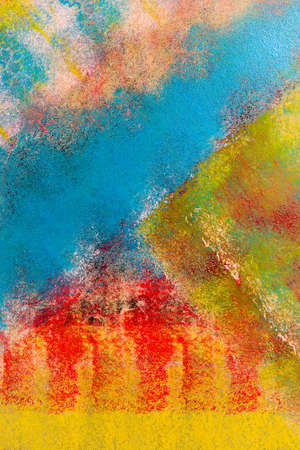Colorful background flecked with paint