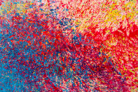 flack: Colorful background flecked with paint