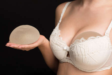 Silicone implants on hand and natural brest