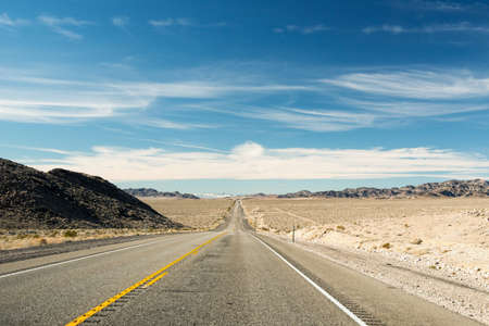 The road to Death Valley National Park, USA. Stock Photo
