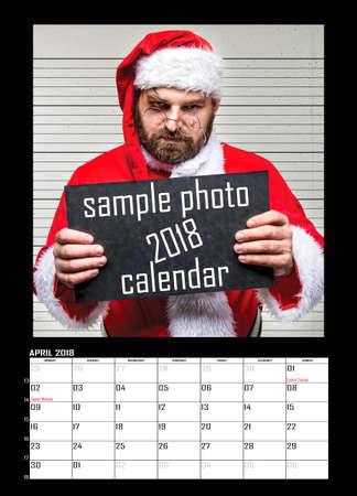 Months of year 2018. Calendar