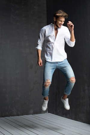 Sexy men in jeans Standard-Bild - 108857706
