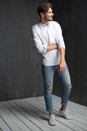 Sexy men in jeans Standard-Bild - 108857756