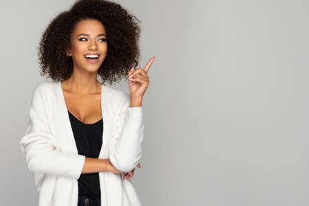 Beautiful smiling african american woman Standard-Bild - 113378668