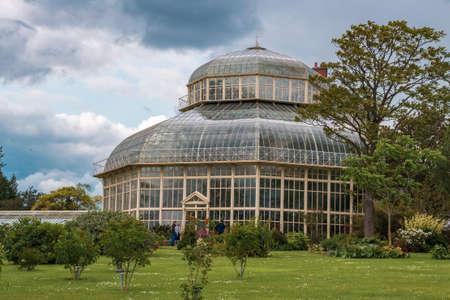 Dublin, Ireland - JUN 03 2019: Greenhouse in The National Botanic Garden in Glasnevin, Dublin, Ireland