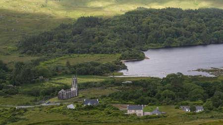 Dunlewy and the Poisoned Glen in Doengal, Ireland. Wild Atlantic Way. 免版税图像