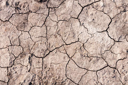 Dry ground with cracks. Global warming concept. Stock Photo