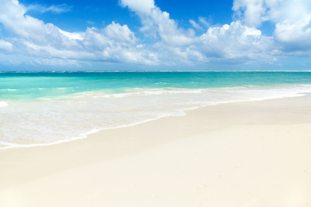 tropical paradise: Tropical Paradise - White Sands Beach Stock Photo