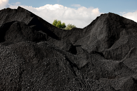 Heaps of coal Stockfoto