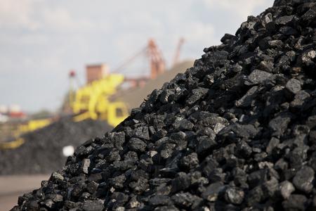 Heaps of coal 스톡 콘텐츠