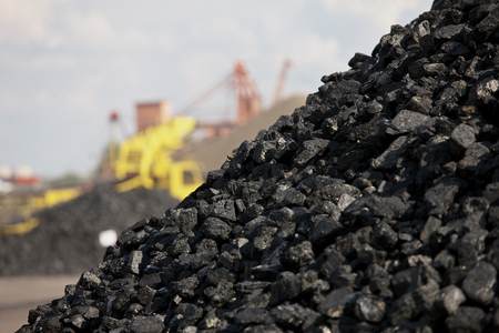 fossil fuels: Heaps of coal Stock Photo