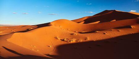 Sand dunes in the Sahara Desert, Merzouga, Morocco Stock Photo