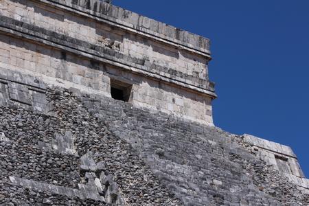 top of a pyramid Chichen Itza