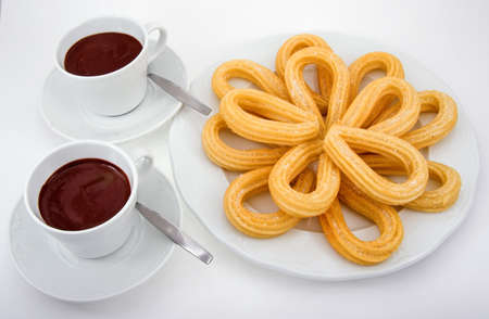 Chocolate and churros (very popular spanish food)