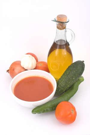Gazpacho (very popular spanish cold soup) photo