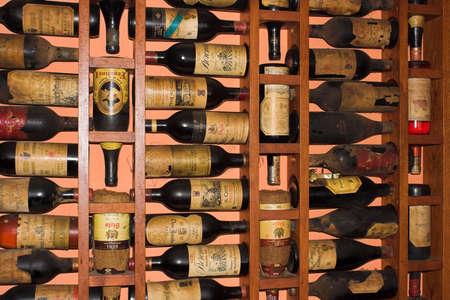 Old Rioja Wine bottles photo