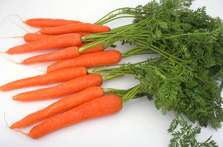 Carrots ( really natural ones ) Stock Photo