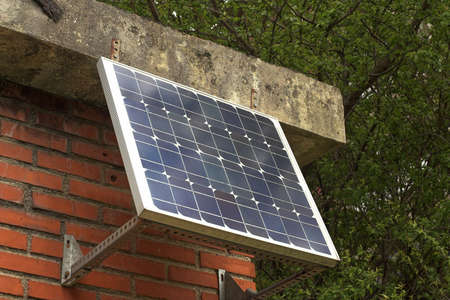 photoelectric: Solar Panel Stock Photo