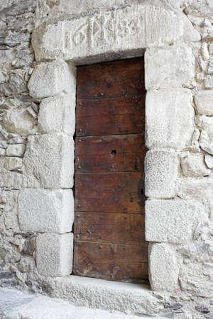 17th: European 17th century church lateral gate Stock Photo