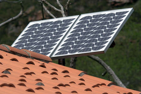 photocell: Solar Panel Stock Photo