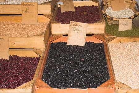 leguminosae: legumes market Stock Photo