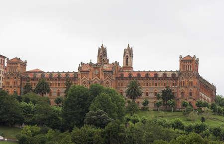 spanish language: Comillas University, future international center of spanish language studies Stock Photo
