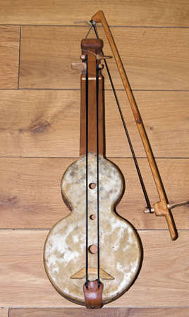 rabel , medieval music instrument , played in present folklore of Cantabria, Spain Stock Photo