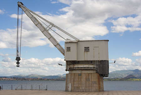 old stone crane, Santander , Cantabria, Spain