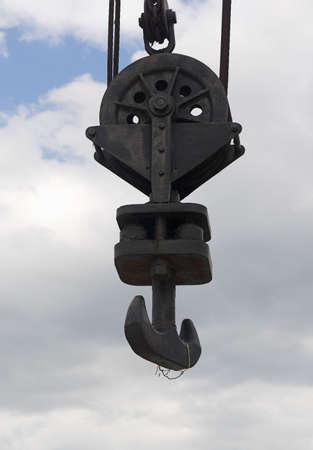 crane hook on the cloudy sky