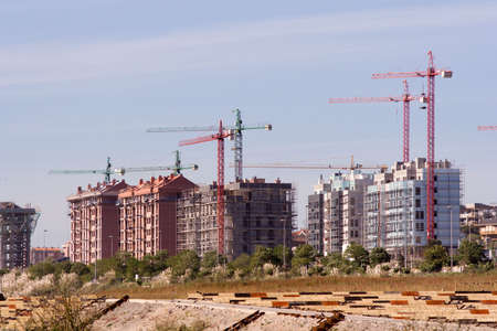 several buildings under construction in Santander, Spain Stock Photo