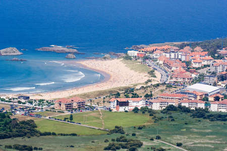cantabria: coast village:  Isla, Cantabria, Spain